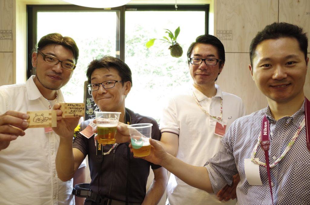 左から僕(東裏篤史)、青木ちゃん、藤村ちゃん、弟(東裏友寛)