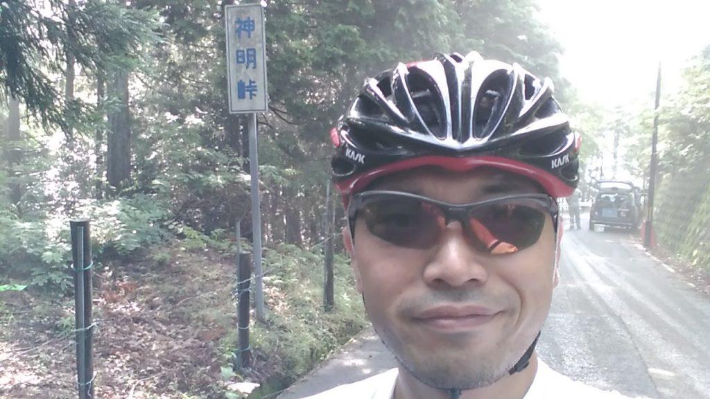亀岡からの林道が府道50号線に接続する「神明峠(しんめいとうげ」。路面状態は劣悪なので亀岡川へ行く人は注意!