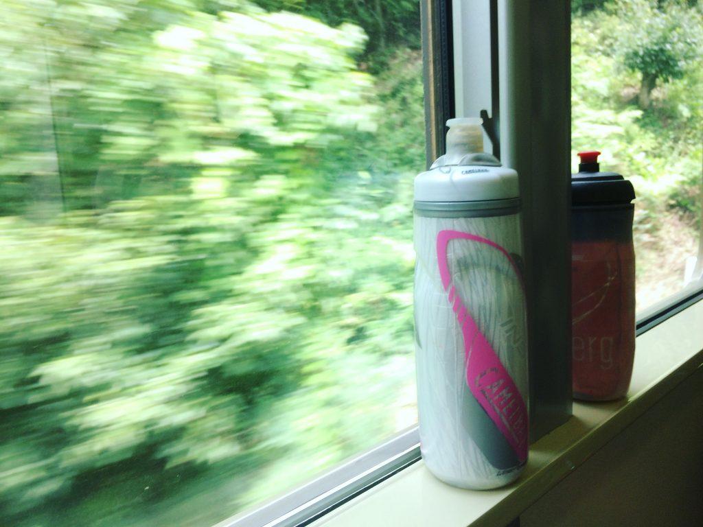 ボトル(奥さんはちゅぱぱと呼んでいます)のお茶を飲みながらまったり。