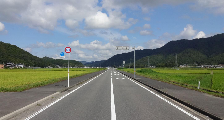 府道25号線。「ここは北海道か?」というほど走りやすい道が続きます。
